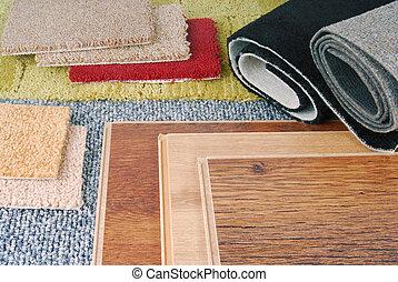 interior, laminate, alfombra, opción