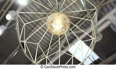 Interior. Lamp on the ceiling