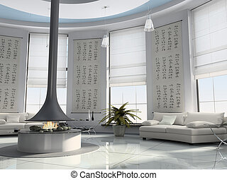 interior lar, 3d, fazendo
