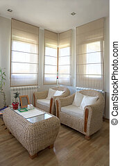 interior, lar, modernos