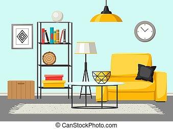 decor clipart interior vector clip room furniture living illustrations illustration drawings