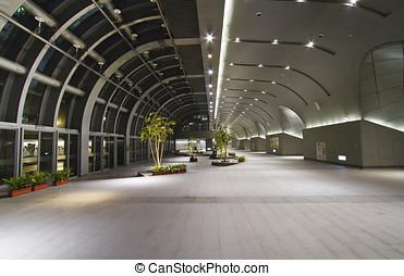 interior lobby hall of the modern station building - lobby...