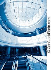 interior - lobby of a upper class shopping mall - interior -...