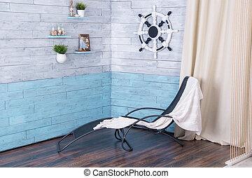 interior, longue chaise