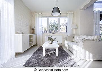 interior, luminoso, confortável