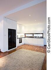 interior, luxo, cozinha
