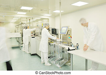 interior, médico, producción, fábrica
