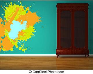 interior, minimalista, armário