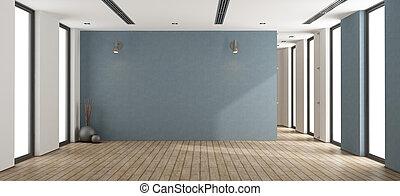 interior, minimalista, vazio
