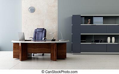 interior, moderne, kontor