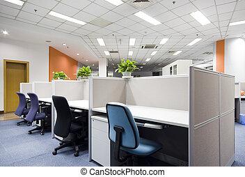 interior, moderno, oficina