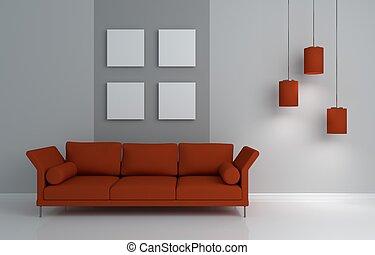interior, modernos, composição