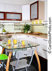 interior, modernos, cozinha