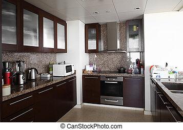 interior, modernos, europeu, cozinha
