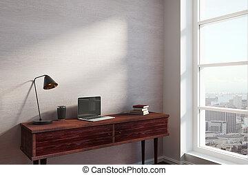 interior, modernos, vista lateral