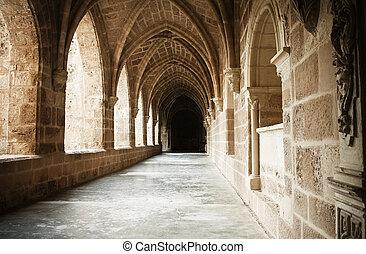 interior, monasterio