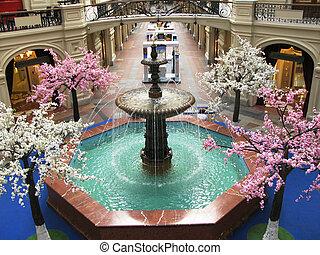 interior, moscú, centro comercial