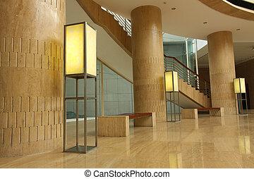 interior, museo, moderno, china