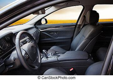 interior, nuevo, moderno, coche