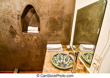 interior of a bathroom, photo as background