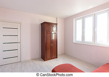 Interior of a bedroom prepared for sale