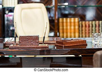Interior of a cabinet - Interior of a retro cabinet with...
