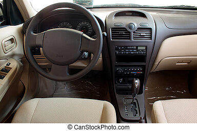 Interior of a car - Interior of a modern car