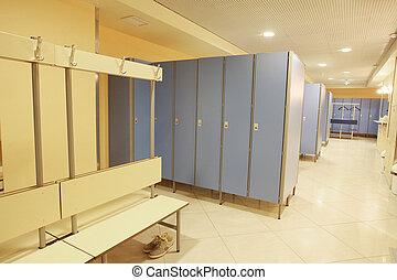 checkroom - Interior of a checkroom