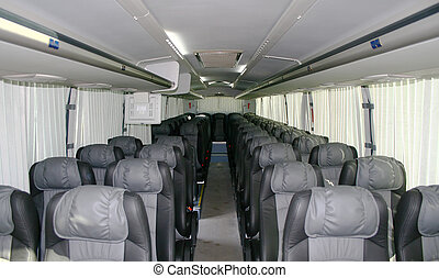 Interior of a coach - Interior of a modern coach