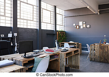 Interior of a contemporary office space without staff -...