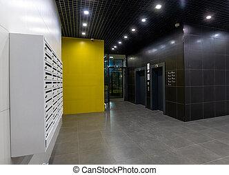 Interior of a corridor in an apartment building