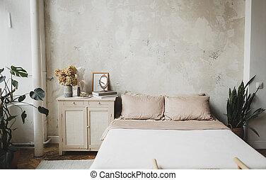interior of a cozy bedroom