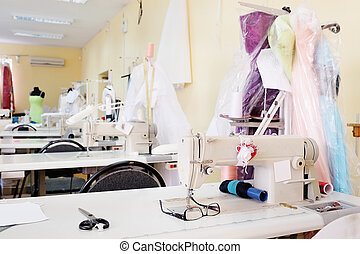 garment factory - Interior of a garment factory shop