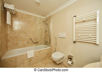 Interior of a hotel bathroom