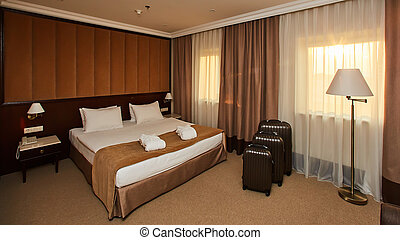 Interior of a hotel bedroom