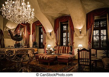 Interior of a luxury apartment