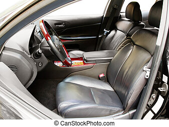 Interior of a luxury car