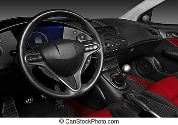 Interior of a modern automobile