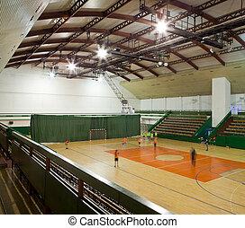 interior of a modern multifunctional gymnasium