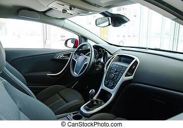 Interior of a modern new car.