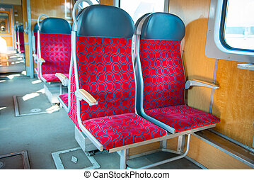 Interior of a modern train