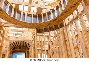 Interior of a new home under construction