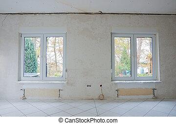Interior of a room under renovation