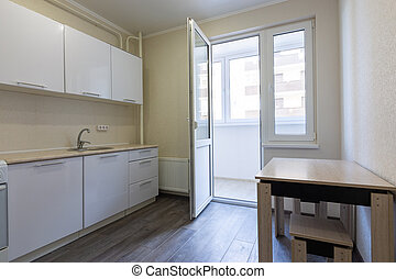 Interior of a small kitchen for rent