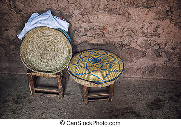 Interior of a typical berber house in Morocco