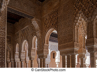 Interior of Alhambra Palace, Granada, Spain