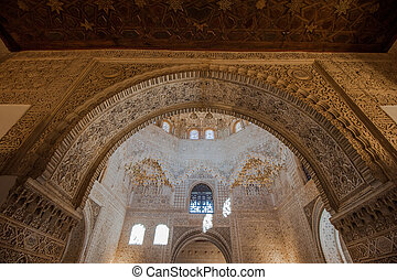 Interior of Alhambra Palace, Granada, Spain