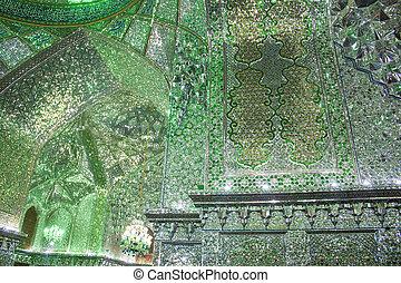 Interior of Ali Ebn-e Hamze Shrine, Shiraz, Iran