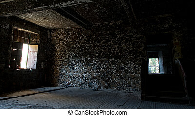 Interior of an abandoned empty room