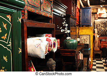 Asian antique furniture store